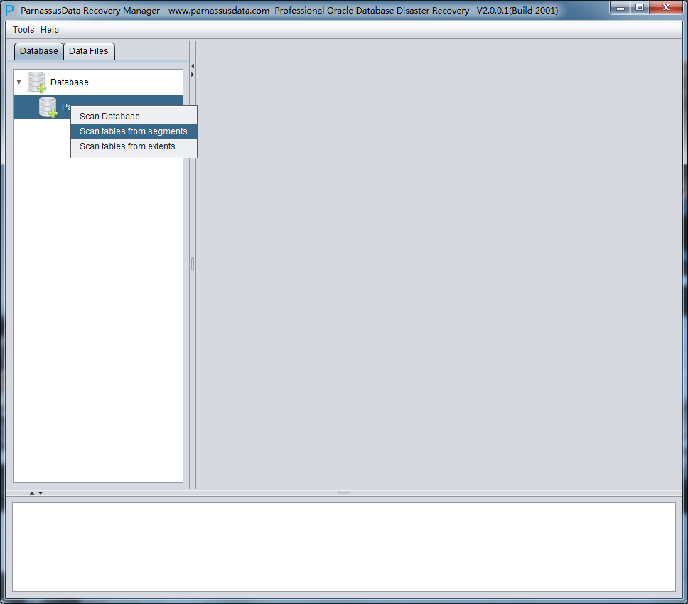 Get the tablespace in oracle