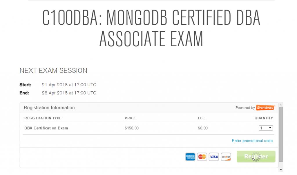 预约mongodb dba认证考试