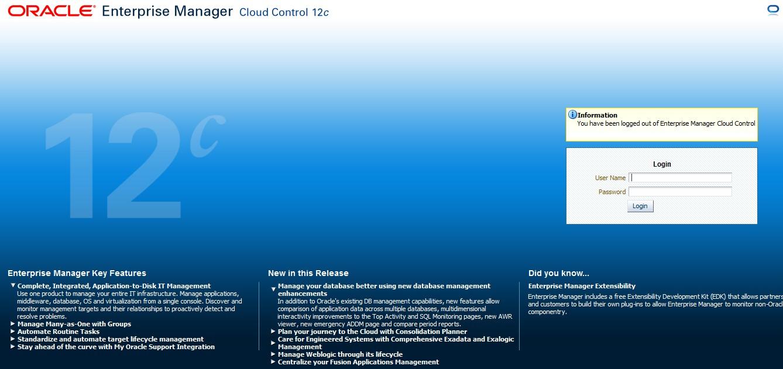 在OEL 5上快速部署Enterprise Manager Cloud Control 12c(12 1)