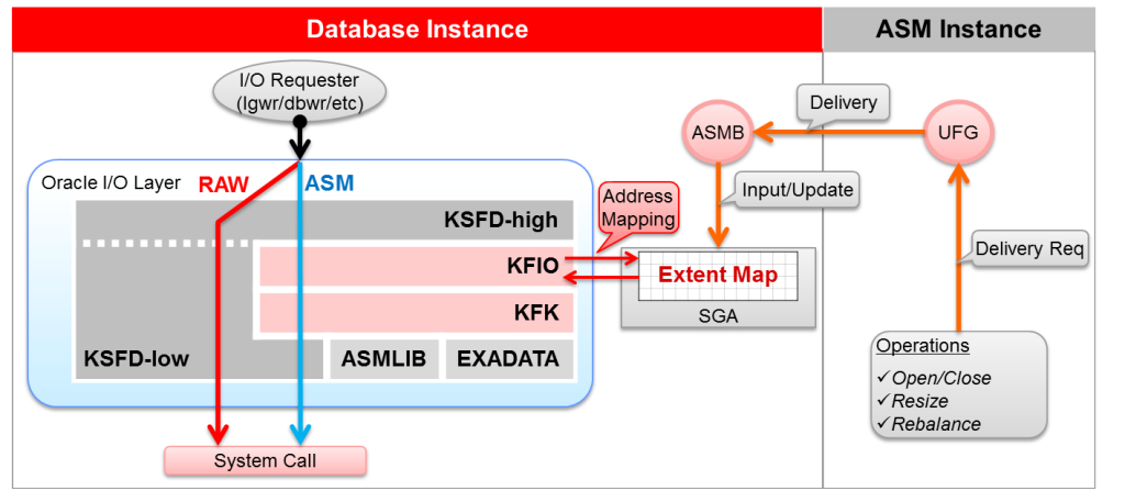 oracle asm IO layer