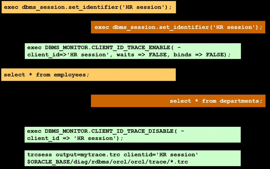 trcsess 实用程序:示例
