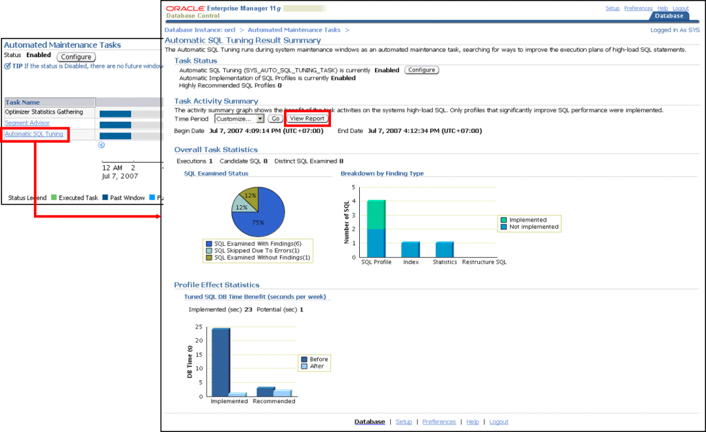 自动 SQL 优化:结果概要