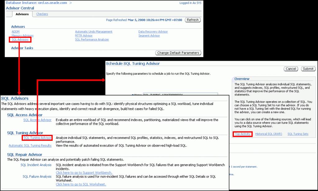 Database Control 和 SQL 优化指导