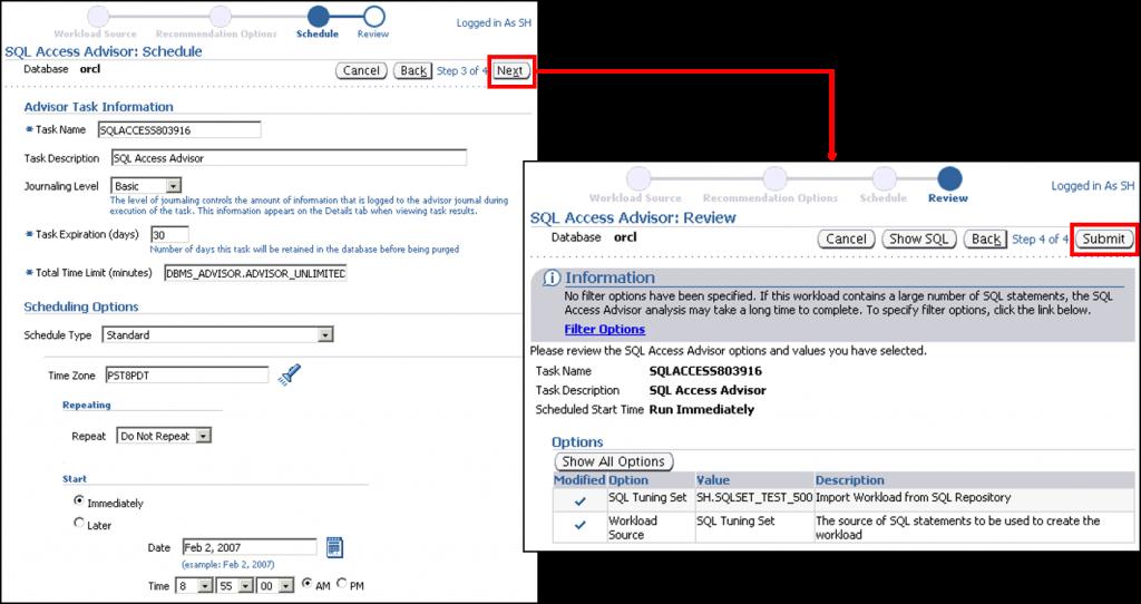 SQL 访问指导:安排和复查