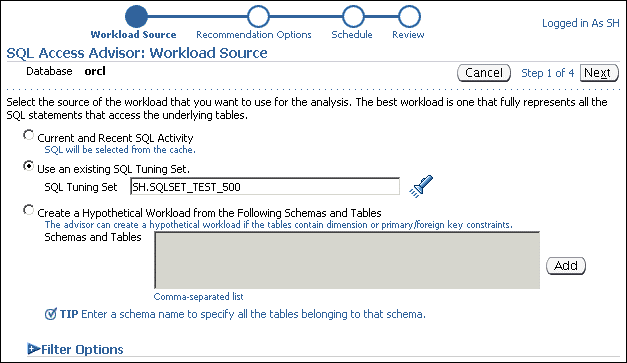 SQL 访问指导:工作量来源
